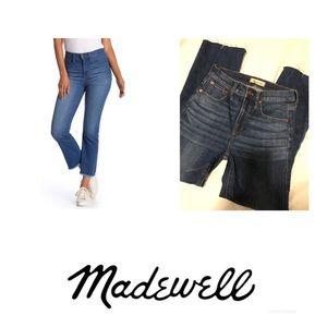 Madewell Cali Denim Boot Raw Hem Size 25